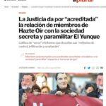 LA SOCIEDAD SECRETA «EL YUNQUE» CONTROLA LA CÚPULA DIRIGENTE DE VOX (1). LOS INDICIOS